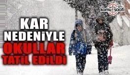 O ilde okullara kar tatili- 1 Mart 2018