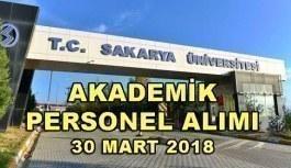 Sakarya Üniversitesi Öğretim Üyesi İlanı - 30 Mart 2018
