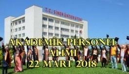 Sinop Üniversitesi akademik personel alımı yapacak - 22 Mart 2018