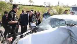 Bakan Soylu'nun konvoyu önünde kaza oldu!