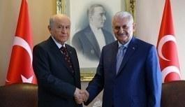 Başbakan Yıldırım ile Devlet Bahçeli görüşmesi başladı
