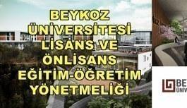 Beykoz Üniversitesi Lisans ve Önlisans Eğitim-Öğretim Yönetmeliği