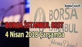 Borsa güne yükselişle başladı - Borsa İstanbul BİST 4 Nisan 2018 Çarşamba