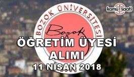 Bozok Üniversitesi 13 Akademik Personel Alacak - 11 Nisan 2018
