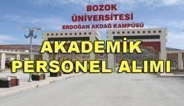Bozok Üniversitesi 18 Akademik Personel Alacak - 3 Nisan 2018
