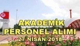 Süleyman Demirel Üniversitesi 33 Akademik Personel Alım İlanı - 27 Nisan 2018