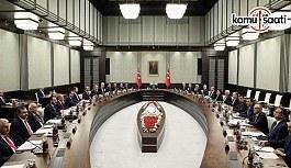 29 Mayıs 2018 Salı Tarihli Bakanlar Kurulu Kararları
