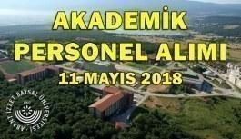 Abant İzzet Baysal Üniversitesi 6 Akademik Personel Alımı - 11 Mayıs 2018