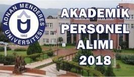 Adnan Menderes Üniversitesi 20 Akademik Personel Alacak - 9 Mayıs 2018