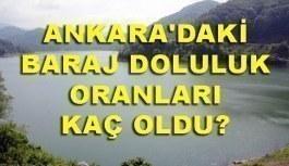 Ankara'daki baraj doluluk oranları! Yağışların etkisi ile...