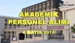 Ankara Sosyal Bilimler Üniversitesi Akademik Personel Alacak - 4 Mayıs 2018
