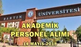 Bartın Üniversitesi Akademik Personel Alımı - 14 Mayıs 2018