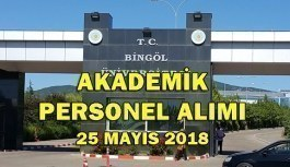 Bingöl Üniversitesi 13 Akademik Personel Alımı Yapacak - 25 Mayıs 2018
