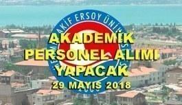 Burdur Mehmet Akif Ersoy Üniversitesi 30 Akademik Personel Alımı - 29 Mayıs 2018