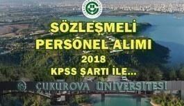 Çukurova Üniversitesi 162 Sözleşmeli Personel Alım İlanı 2018