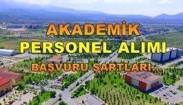 Erciyes Üniversitesi Akademik Personel Alımı - Başvuru şartları