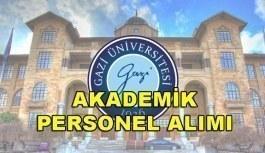 Gazi Üniversitesi 39 Akademik Personel Alım İlanı