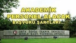 Orta Doğu Teknik Üniversitesi 19 Akademik Personel Alım İlanı - 3 Mayıs 2018