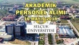Selçuk Üniversitesi Akademik Personel Alım İlanı - 16 Mayıs 2018