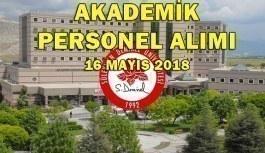 Süleyman Demirel Üniversitesi Akademik Personel Alacak - 16 Mayıs 2018