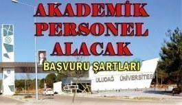 Bursa Uludağ Üniversitesi 39 Akademik Personel Alım İlanı - 4 Haziran 2018