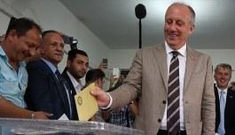 CHP'nin cumhurbaşkanı adayı Muharrem İnce oyunu kullandı