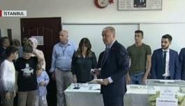 Cumhurbaşkanı Erdoğan oyunu Saffet Çebi Ortaokulu'nda kullandı!
