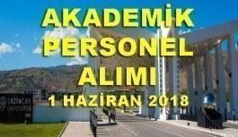 Erzincan Binali Yıldırım Üniversitesi 32 Akademik Personel Alımı - 1 Haziran 2018