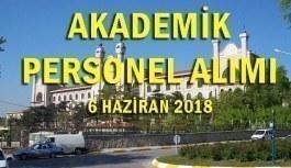 Marmara Üniversitesi akademik personel alım ilanı - 6 Haziran 2018