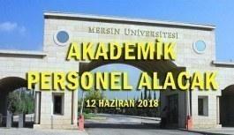 Mersin Üniversitesi 38 Öğretim Üyesi İlanı - 12 Haziran 2018