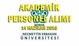 Necmettin Erbakan Üniversitesi 60 Akademik Personel Alacak - 14 Haziran 2018