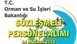 Orman ve Su İşleri Bakanlığı Sözleşmeli Personel Alacak - 14 Haziran 2018