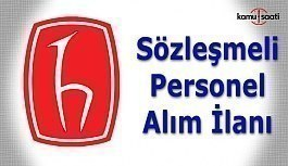 Hacettepe Üniversitesi 116 Sözleşmeli Personel Alım İlanı
