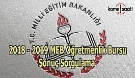 2018 - 2019 MEB Öğretmenlik Bursu Sonuçları Açıklandı