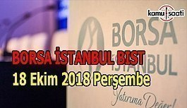 Borsa güne yatay seyirle başladı - Borsa İstanbul BİST 18 Ekim 2018 Perşembe