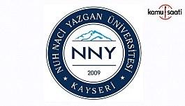 Nuh Naci Yazgan Üniversitesi Ön Lisans ve Lisans Eğitim-Öğretim ve Sınav Yönetmeliğinde Değişiklik Yapıldı - 18 Ekim 2018 Perşembe