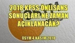 2018 KPSS Önlisans sonuçları ne zaman açıklanacak? ÖSYM açıklaması