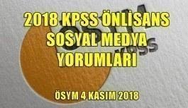 2018 KPSS Önlisans Sosyal Medya Yorumları -ÖSYM 4 Kasım 2018