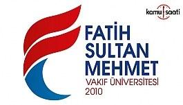 Fatih Sultan Mehmet Vakıf Üniversitesi İslam Hukuku Uygulama ve Araştırma Merkezi Yönetmeliği - 10 Kasım 2018 Cumartesi