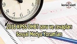 2018 KPSS DHBT soru ve cevapları Sosyal Medya Yorumları (9 Aralık 2018)