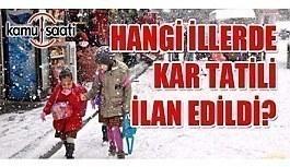 Yarın okullar tatil mi? 13 Aralık 2018 Perşembe kar tatili olan illerin listesi