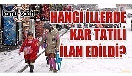 Yarın okullar tatil mi? 25 Aralık 2018 Salı kar tatili olan illerin listesi