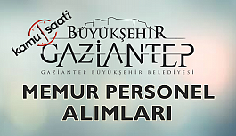 Gaziantep Büyükşehir Belediyesi Personel Alımı 2019
