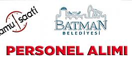 Batman Belediyesi Personel Alımı