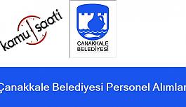 Çanakkale Belediyesi Personel Alımı 2019