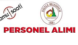 Düzce Belediyesi Personel Alımı 2019