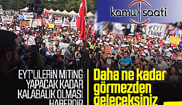 EYT'liler Ankara'da Miting Düzenledi