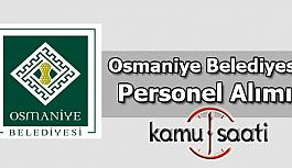 Osmaniye Belediyesi Personel Alımı 2019
