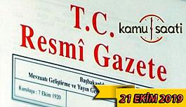 21 Ekim 2019 Pazartesi Tarihli TC Resmi...