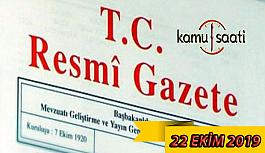 22 Ekim 2019 Pazartesi Tarihli TC Resmi...